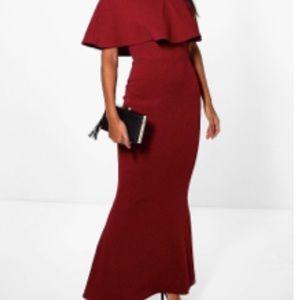 Boohoo off shoulder maxi dress